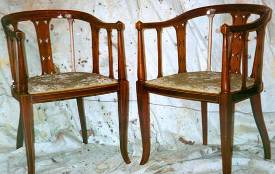 French Polished Chairs